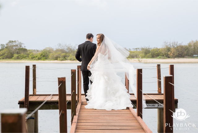 bride and groom at sunshine coast wedding reception ceremony by greg doney